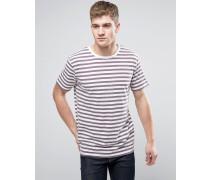 Brooklyn Supply Co T-Shirt mit pflaumenblauen Bretonstreifen Violett