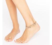 Fußkettchen mit Perlenanhängern Mehrfarbig