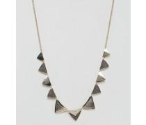 Halskette mit Diamantstaub-Dreiecken Gold