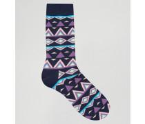Tribal Socken Blau