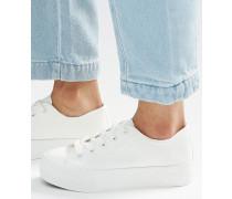 Flache Sneaker Weiß