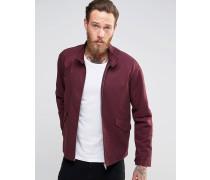 Harrington-Jacke mit Stehkragen in Bordeaux Rot