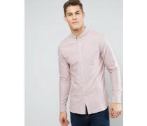 Schmales Oxford-Hemd Rosa