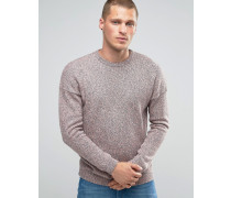 Oversized-Pullover mit Rundhalsausschnitt und fallenden Schultern aus Baumwollzwirn Rosa