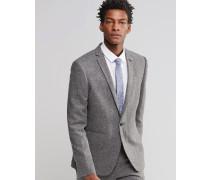 WEDDING Schmale Anzugjacke aus grauem Tweed Grau