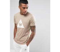 Braunes T-Shirt mit großem Logo, 1711091 Braun