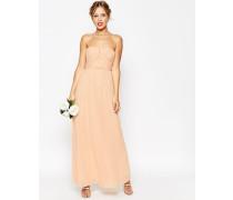 WEDDING Trägerloses Maxikleid mit gerüschtem Mieder Rosa