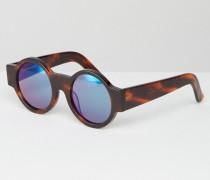 Wideside Runde Sonnenbrille Braun