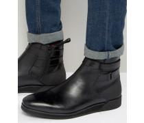 Kydia Jodhpur-Stiefel aus Leder Schwarz