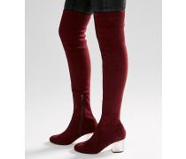 KENTUCKY Overknee-Stiefel mit durchsichtigem Absatz Braun