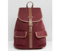 Rucksack aus Baumwoll-Canvas Rot