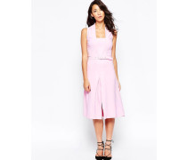 Closet Neckholder-Kleid mit Faltenrock Rosa