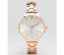 Roségoldene Armbanduhr Rosa