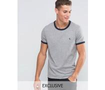Ringer Regulär geschnittenes T-Shirt in exklusivem Grau Grau