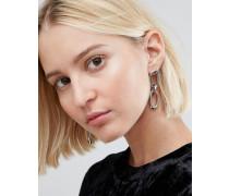 Ohrringe mit Gliederketten Silber