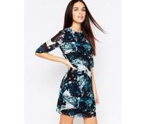 Amelia Kleid mit eisähnlichem Druck Blau