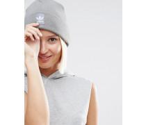 Originals Strickmütze mit Logoaufnäher Grau