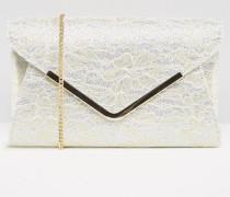Glitzernde Envelope-Clutch Gold