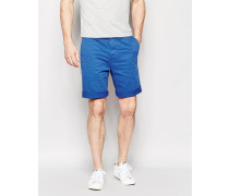 Rail Chino-Shorts in Karottenform aus Stretch-Satin in überfärbtem Königsblau Blau