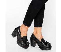 Loafer mit Absatz Schwarz