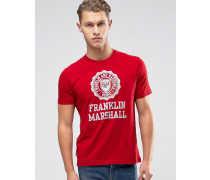 Franklin and Marshall T-Shirt mit großem Logo Rot