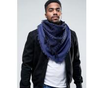 Blauer Schal mit Irokesen-Logo Blau