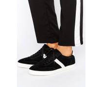 DELPHINE Sneaker mit Schnürung und Streifen Schwarz