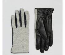 Handschuhe aus Wollmischung Grau