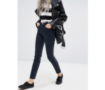 Way Hochgeschnittene enge Jeans Marineblau