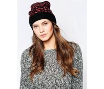 Electric Mütze mit Leopardenmuster Rosa