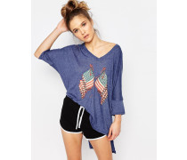 Lady Liberty T-Shirt Blau