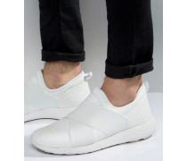 Elastische weiße Sneaker mit Gummidetail Weiß
