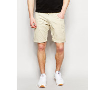 Solid Chino-Shorts Beige