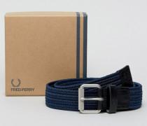 Woven Cord Belt in Navy Marineblau