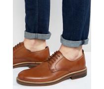 Derby-Schuhe aus hellbraunem Leder mit Natursohle Bronze