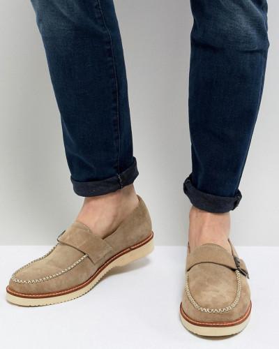 Farah 1920 Herren Ramone - Monk-Schuhe aus Wildleder mit dicker Sohle