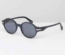 Grishin Runde Sonnenbrille, in Marine Blau