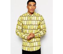 Hemd mit Gold-Motiv Gelb