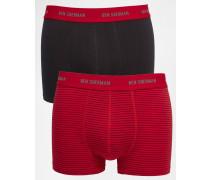 2er Pack Boxers Rot