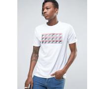 T-Shirt mit sich wiederholendem Logo Weiß