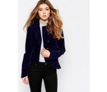 Uncut Cord-Jacke Blau
