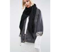 Übergroßer leichter Schal Schwarz