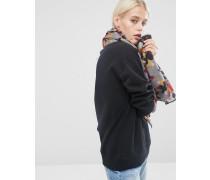 Leichter Oversize-Schal mit Tarnmuster Mehrfarbig