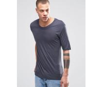 Jarmo Anschmiegsames T-Shirt in Dunkelgrau Grau