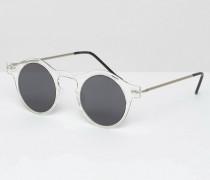 Runde Sonnenbrille Transparent