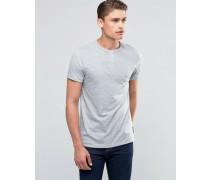 Geknöpftes T-Shirt Grau