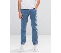 Schmale Stretch-Jeans in Mittelblau Blau