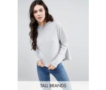 Kastenförmiges Jersey-Sweatshirt Grau