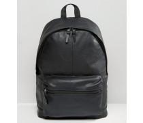 Rucksack aus schwarzem Leder Schwarz