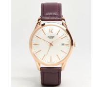 Hampstead Violette Uhr, HL39-S-0082 Silber